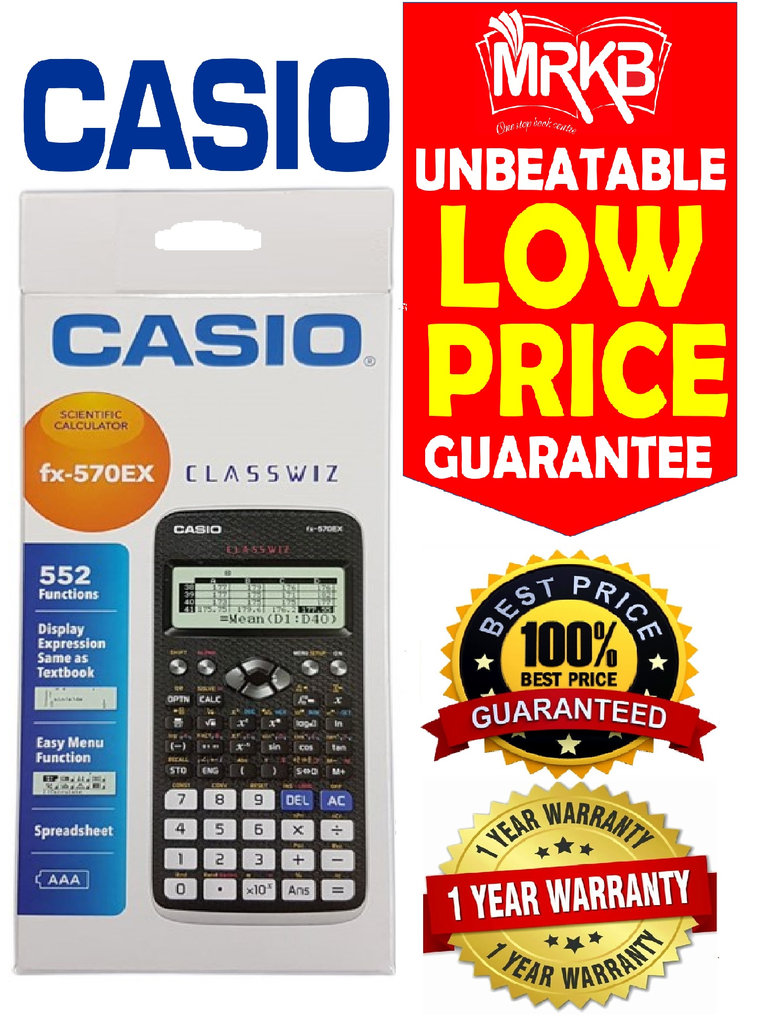 Online scientific calculator with tape