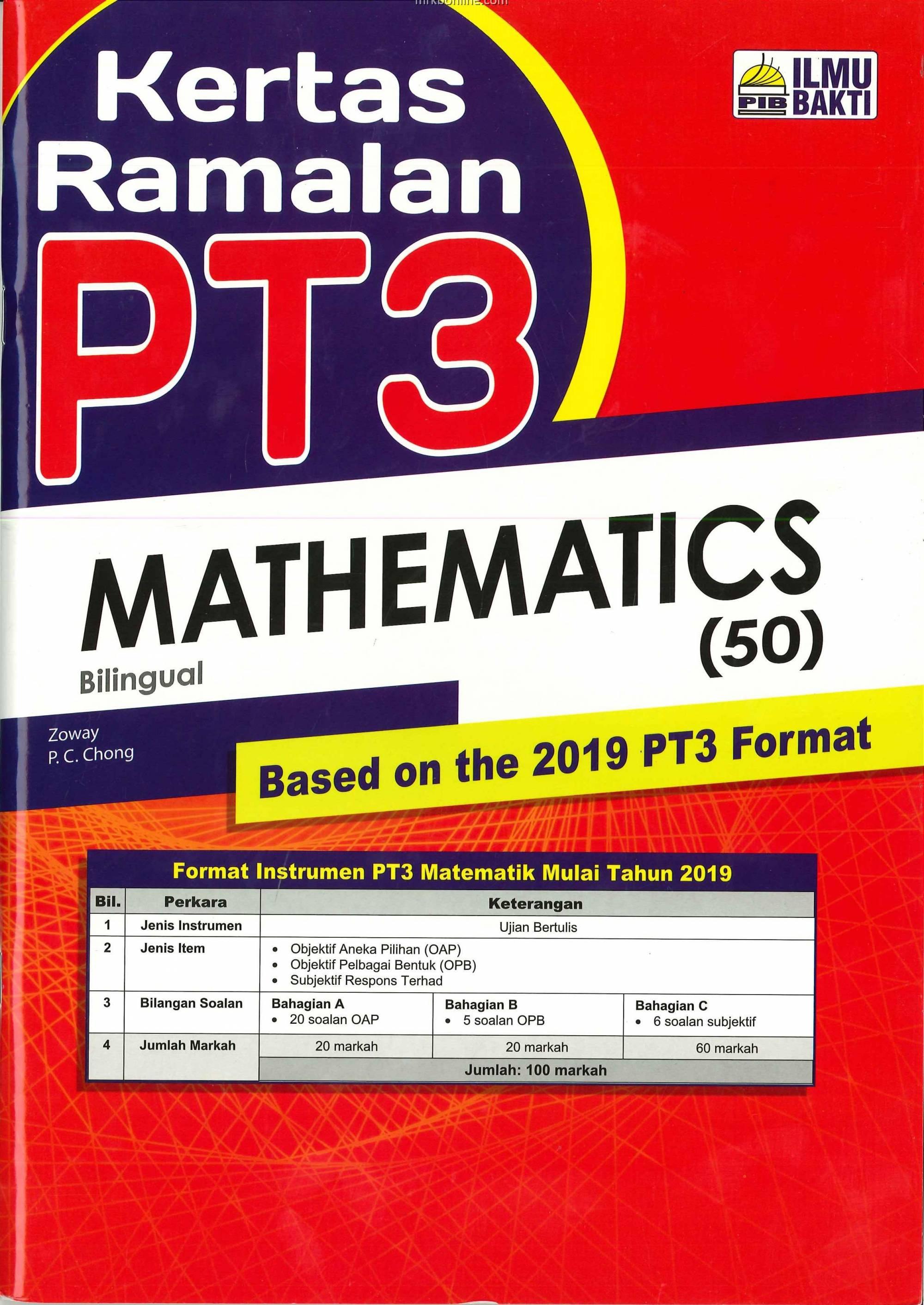 Kertas Ramalan Pt3 Mathematics Bilingual