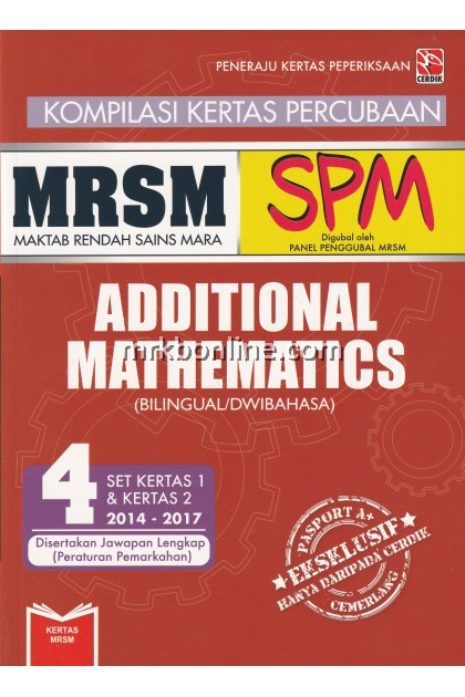 Kompilasi Kertas Percubaan MRSM SPM Additional Mathematics