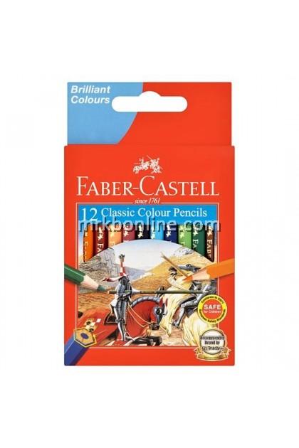 Faber-Castell 12 Classic Colour Pencils (Short)