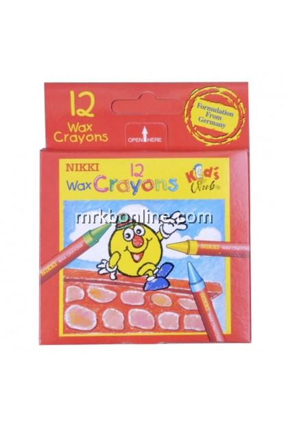 Nikki 12 Wax Crayons NC-1212