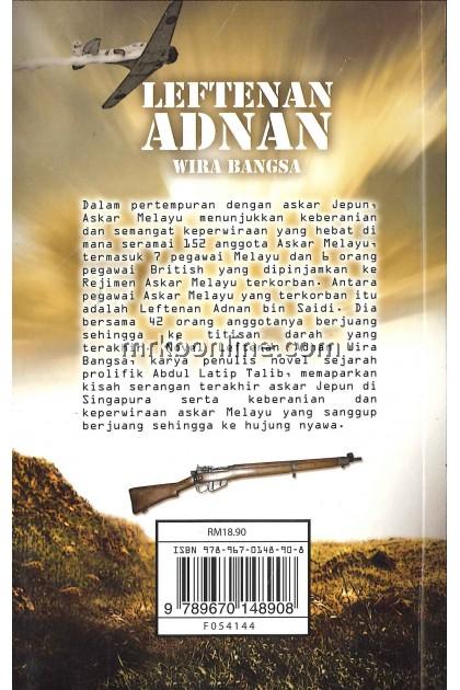 Buku Teks Komsas Leftenan Adnan Wira Bangsa Tingkatan 4