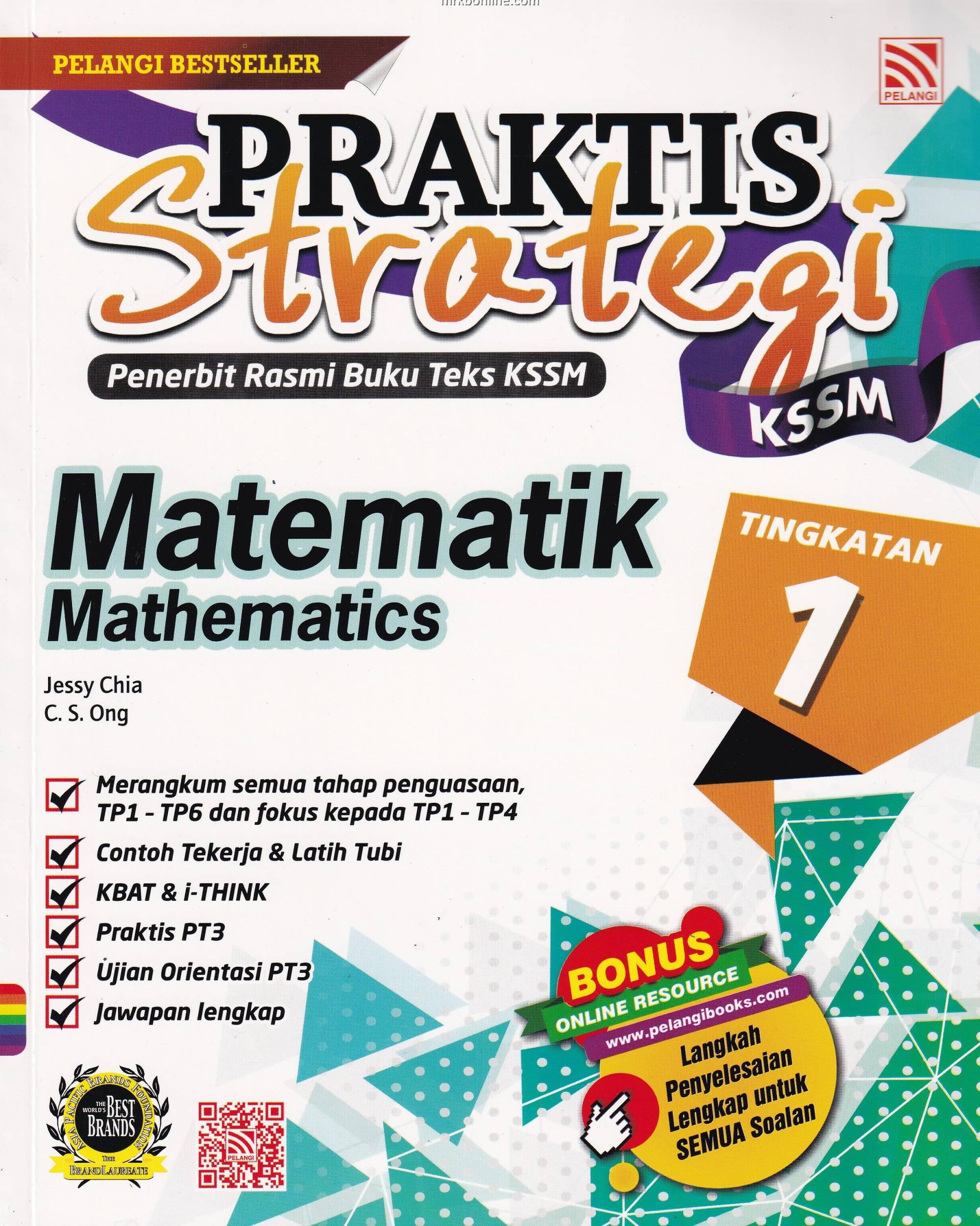Praktis Strategi Kssm Matematik Tingkatan 1 Dwibahasa