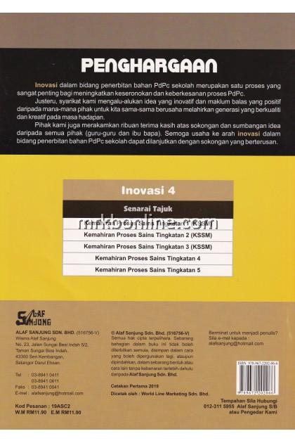 Inovasi 4 You Are Enriching Kemahiran Proses Sains (Dwibahasa) Tingkatan 2