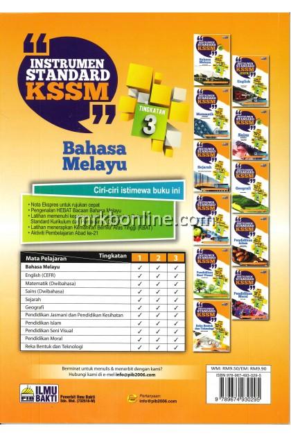 Instrumen Standard Kssm Bahasa Melayu Tingkatan 3