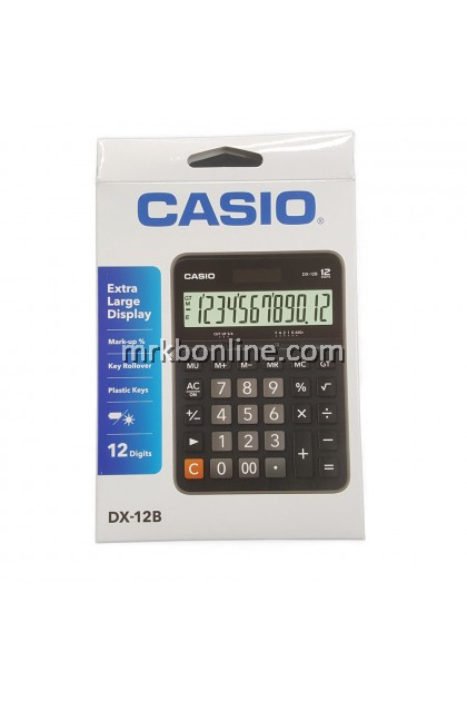 Casio DX-12B Electronic Calculator (DX-12B-BK)