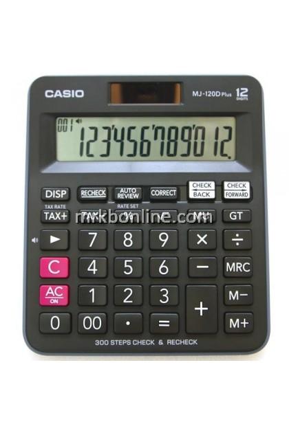 Casio MJ-120D Plus Check & Recheck Electronic Calculator (MJ-120D Plus -BK)