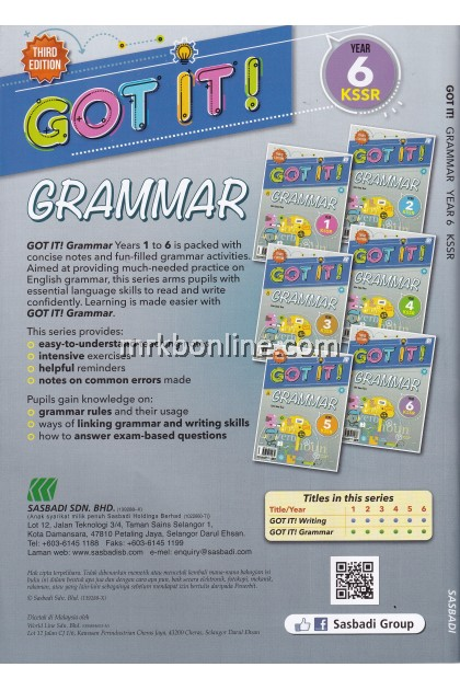 GOT IT! Grammar Year 6 KSSR (3rd Edition)