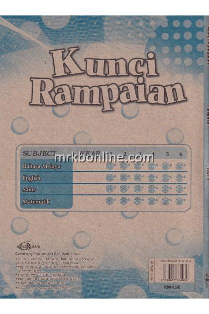 Kunci Rampaian English Year 3