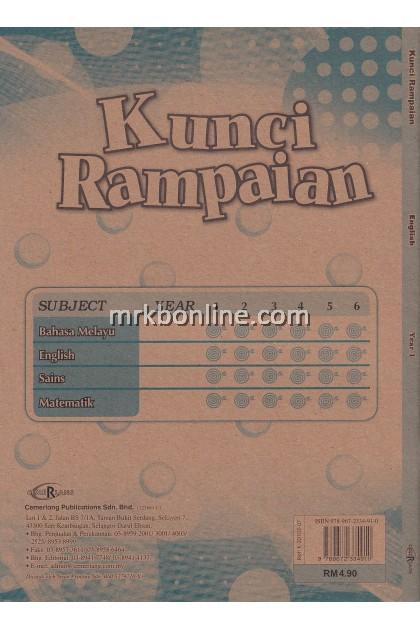 Kunci Rampaian English Year 1