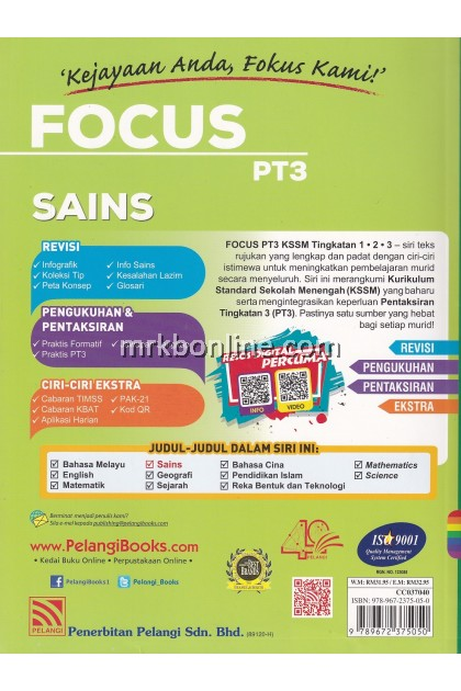 [2020] Focus PT3 Sains Tingkatan 1, 2 & 3 KSSM