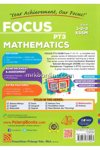 [2020] Focus PT3 Mathematics Form 1, 2 & 3