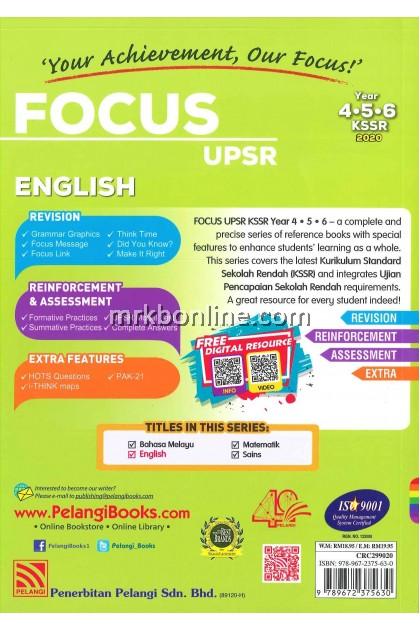 [2020] Focus UPSR English Year 4, 5 & 6