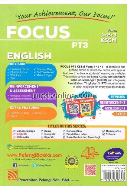 [2020] Focus PT3 English Form 1, 2 & 3
