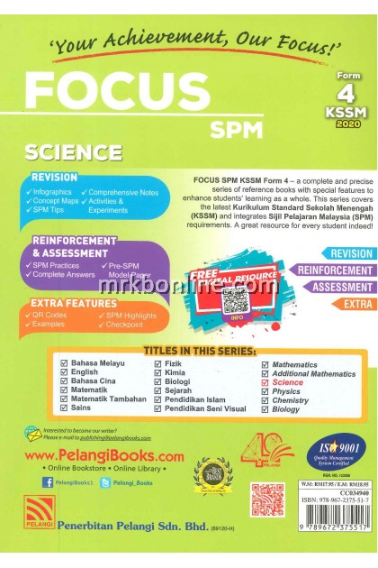 [2020] Focus SPM Science Form 4 KSSM