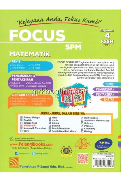 [2020] Focus SPM Matematik Tingkatan 4 KSSM