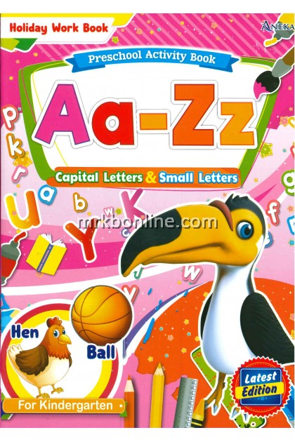 Holiday Work Book - Aa-Zz Capital Letters & Small Letters