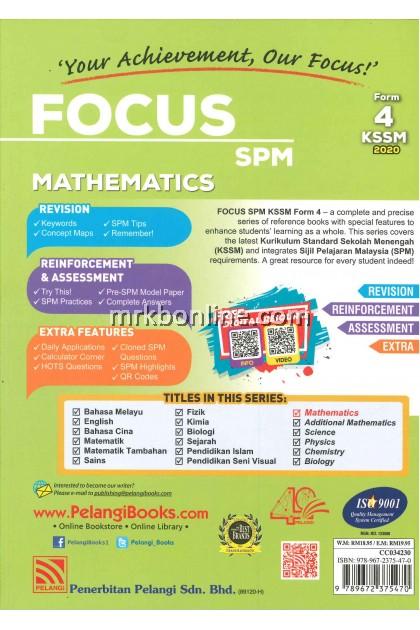 [2020] Focus SPM Mathematics Form 4 KSSM