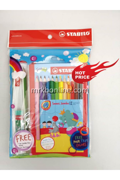 STABILO Stationery Set - Jumbo Size 12