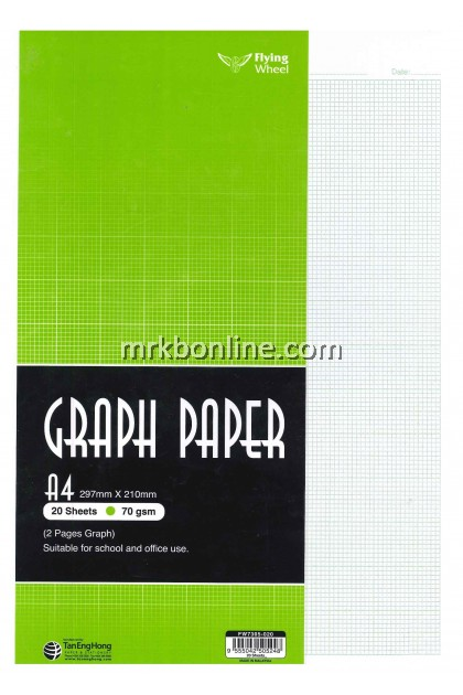 Graph Paper  A4 20 Sheets (2 Pages Graph)