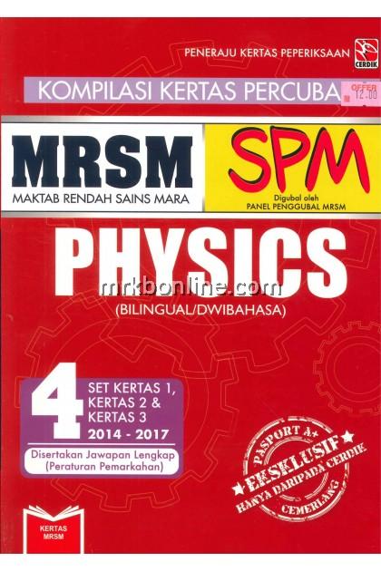 [OFFER] Kompilasi Kertas Percubaan SPM MRSM Physics (Dwibahasa)