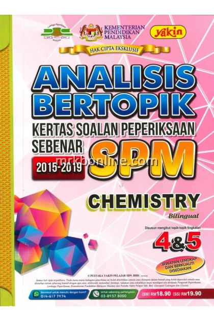 Analisis Bertopik Kertas Soalan Peperiksaan Sebenar SPM Chemistry 2015-2019
