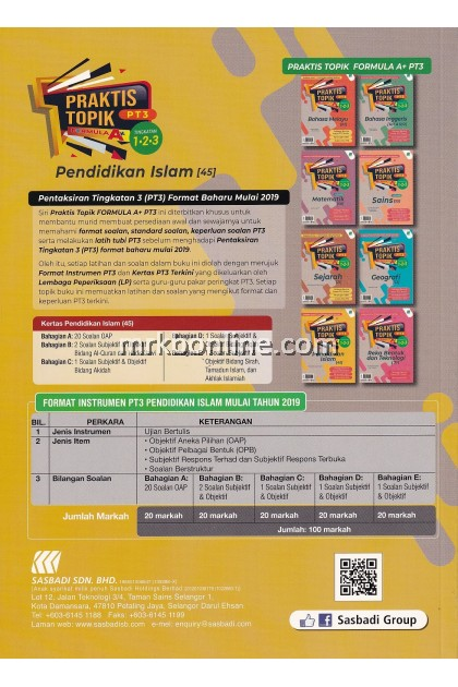 Praktis Topik Formula A+ PT3 Pendidikan Islam Tingkatan 1, 2 & 3
