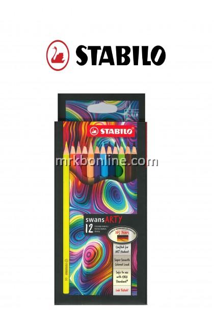 Stabilo Swans Arty 12 Colour Pencils (Long) 1520/12