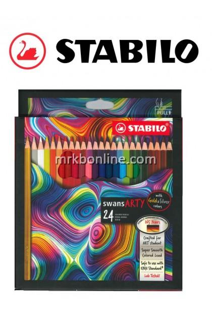 Stabilo Swans Arty 24 Colour Pencils (Long) 1520/24