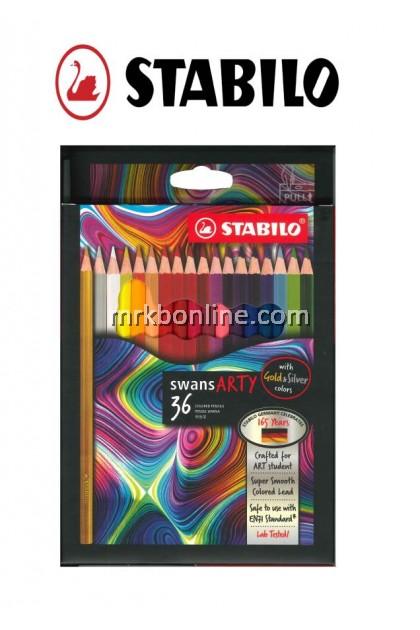 Stabilo Swans Arty 36 Colour Pencils (Long) 1520/36