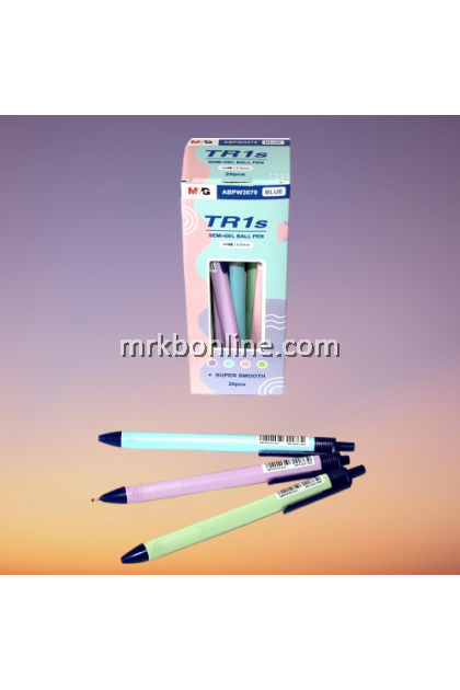 M&G TR1S Semi-Gel Pen 0.5mm 20 pcs (Blue)