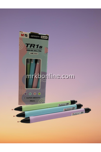 M&G TR1S Semi-Gel Pen 0.5mm 20 pcs (Black)
