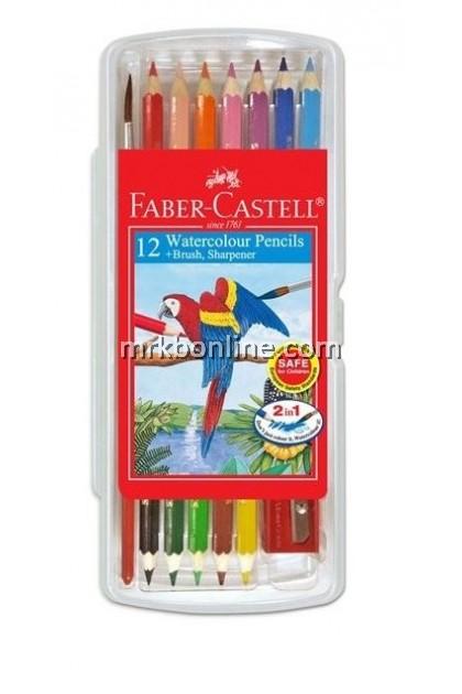 Faber-Castell 24 Watercolour Pencils + Brush,Sharpener (114561)