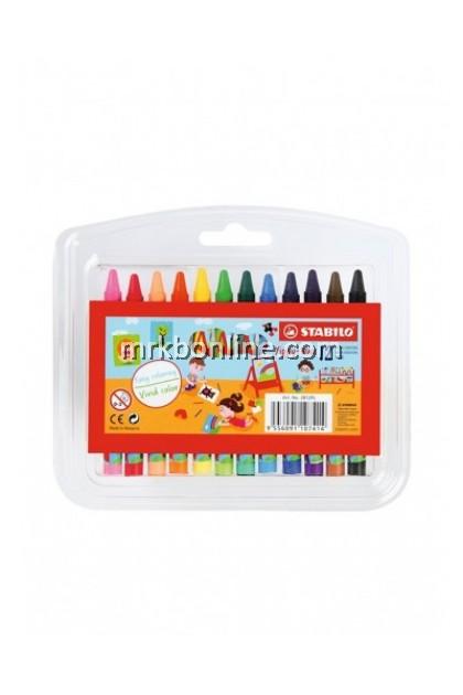 Stabilo 12 Wax Crayons 2812PL