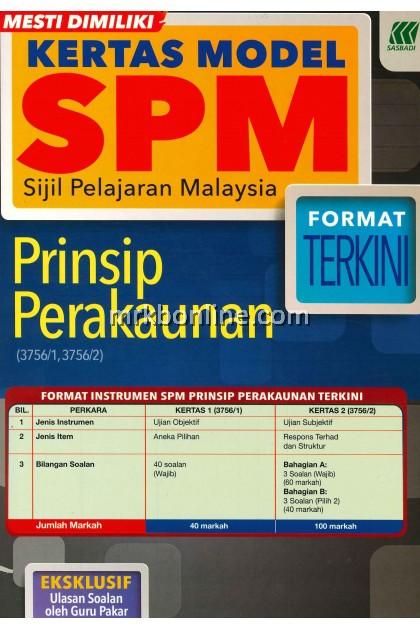 Kertas Model SPM Prinsip Perakaunan KSSM