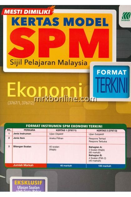 Kertas Model SPM Ekonomi KSSM