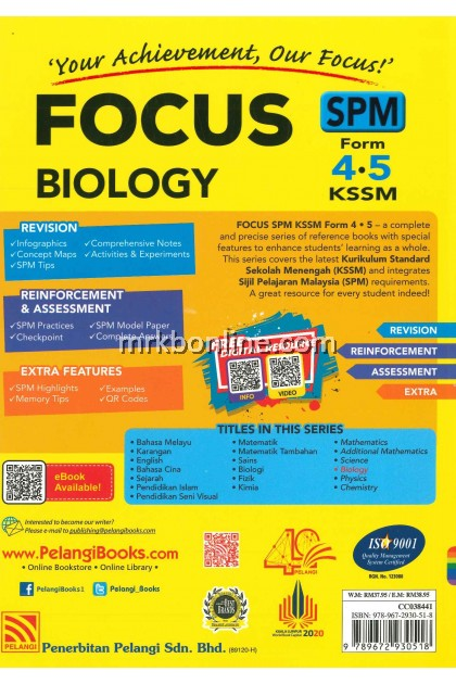 [2021] Focus SPM Biology Form 4&5 KSSM