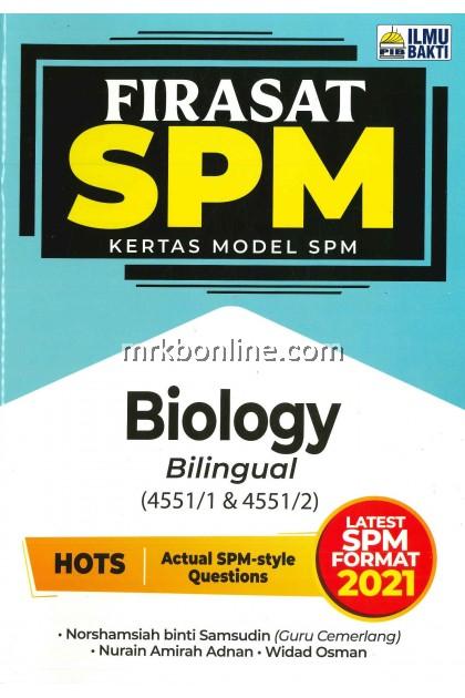 [2021] Firasat Kertas Model SPM Biology (Bilingual)