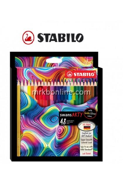Stabilo Swans Arty 48 Colour Pencils (Long) 1520/48