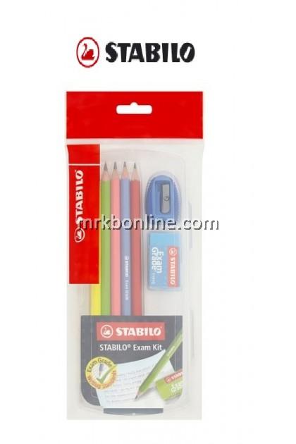 Stabilo Exam Grade 2B Writing Pencil 6's+Eraser + Sharpener