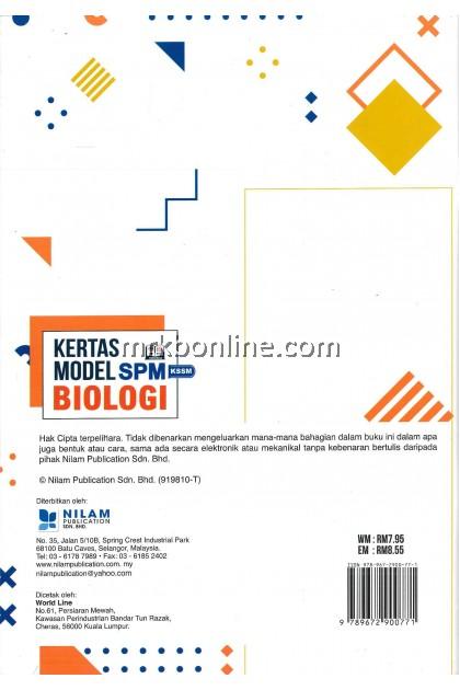[NILAM] Kertas Model SPM Biologi KSSM
