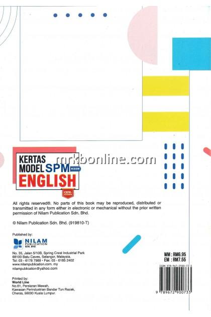 [NILAM] Kertas Model SPM English KSSM