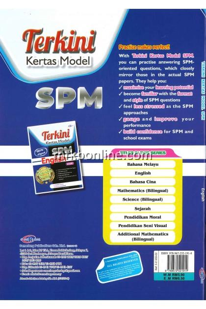 [CEMERLANG] Terkini Kertas Model SPM English KSSM