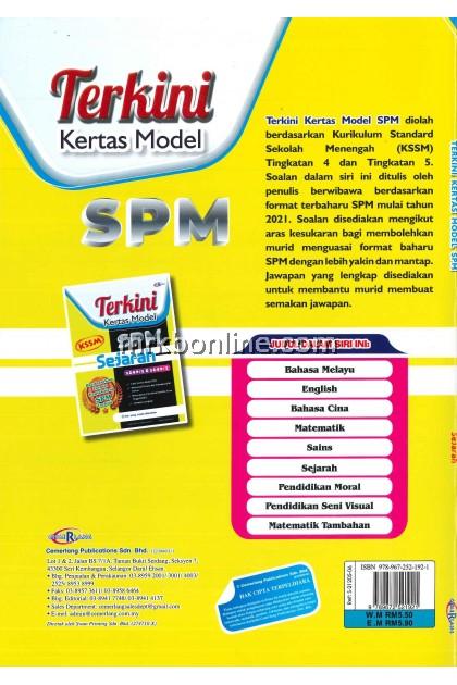 [CEMERLANG] Terkini Kertas Model SPM Sejarah KSSM