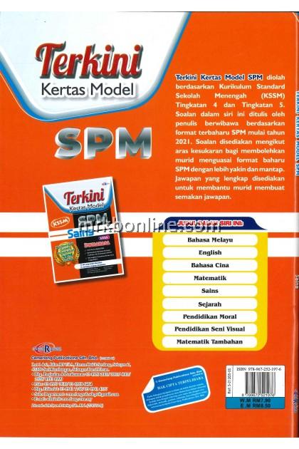 [CEMERLANG] Terkini Kertas Model SPM Sains KSSM
