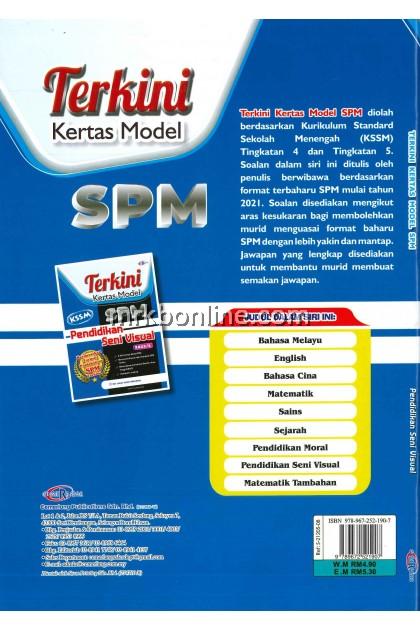 [CEMERLANG] Terkini Kertas Model SPM Pendidikan Seni Visual KSSM