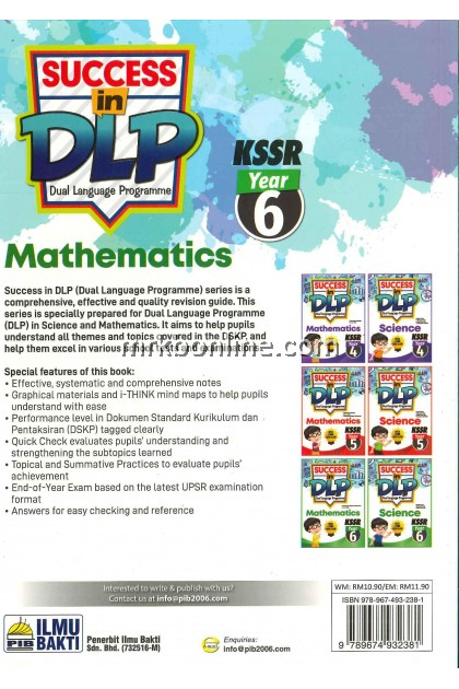 Success In DLP Mathematics Year 6 KSSR