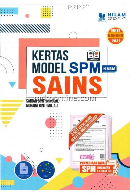 [NILAM] Kertas Model SPM Sains KSSM