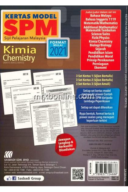 Kertas Model SPM Kimia (DWIBAHASA) KSSM