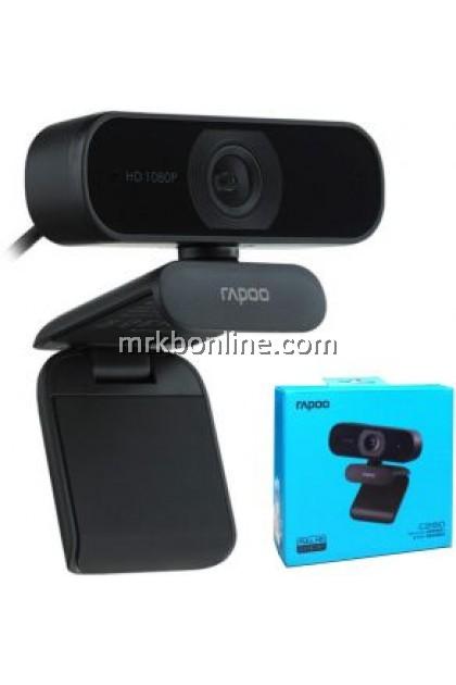 Rapoo C260 USB Full HD Webcam, 1080p 30hz, 360 Horizontal, 95 degrees Super Wide-Angle   Built in Mic